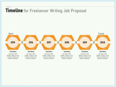 Writing A Bid Timeline For Freelancer Writing Job Proposal Ppt PowerPoint Presentation Summary Background Images PDF