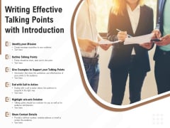 Writing Effective Talking Points With Introduction Ppt PowerPoint Presentation Inspiration Skills