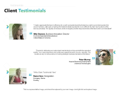 Writing Research Proposal Outline Client Testimonials Ppt Example 2015 PDF