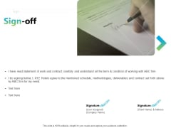 Writing Research Proposal Outline Sign Off Ppt Summary Samples PDF