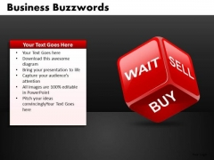 Wait Sell Buy Stocks Finance PowerPoint Ppt Templates