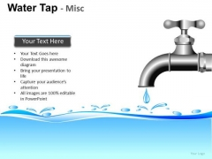 Waste Water Faucet PowerPoint Slides And Ppt Diagram Templates