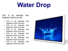 Water Drop Abstract PowerPoint Presentation Slides F
