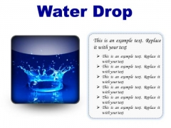 Water Drop Abstract PowerPoint Presentation Slides S