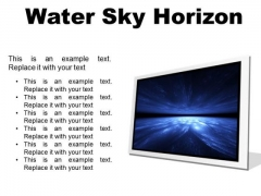 Water Sky Horizon Abstract PowerPoint Presentation Slides F