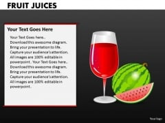 Watermelon Juice PowerPoint Templates And Fruits Ppt Presentations