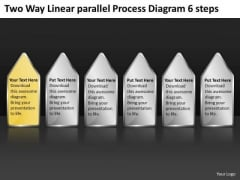 Way Linear Parallel Process Diagram 6 Steps Writing Business Plan Free PowerPoint Slides