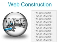 Web Construction Industrial PowerPoint Presentation Slides C