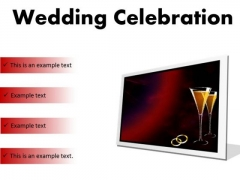 Wedding Celebration Family PowerPoint Presentation Slides F