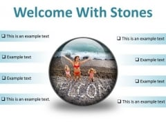 Welcome With Stones Beach PowerPoint Presentation Slides C