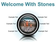 Welcome With Stones Beach PowerPoint Presentation Slides Cc
