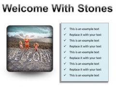 Welcome With Stones Beach PowerPoint Presentation Slides S