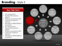 Wheel And Spoke Diagram Editable PowerPoint Slides