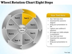 Wheel Rotation Chart Eight Steps Download Business Plans PowerPoint Slides