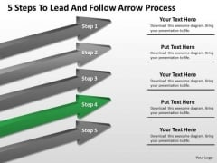 Windows Parallel Processing 5 Steps To Lead And Follow Arrow Ppt PowerPoint Slides