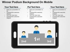 Winner Podium Background On Mobile PowerPoint Template