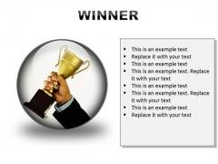 Winner Success PowerPoint Presentation Slides C