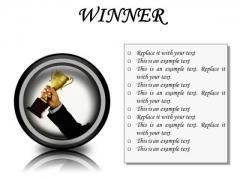 Winner Success PowerPoint Presentation Slides Cc