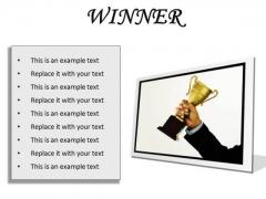 Winner Success PowerPoint Presentation Slides F