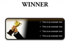 Winner Success PowerPoint Presentation Slides R