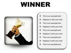 Winner Success PowerPoint Presentation Slides S