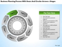 With Gears And Circular Arrows 8 Stages Business Plan Components PowerPoint Templates