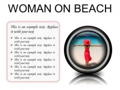 Woman On Beach Holidays PowerPoint Presentation Slides Cc