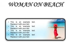 Woman On Beach Holidays PowerPoint Presentation Slides R
