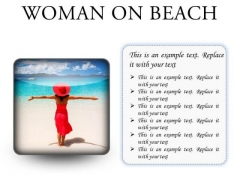 Woman On Beach Holidays PowerPoint Presentation Slides S