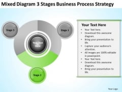 Work Flow Business Process Diagram 3 Stages Strategy Ppt 2 PowerPoint Slides