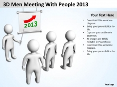 Work Flow Business Process Diagram 3d Men Meeting With People 2013 PowerPoint Slides