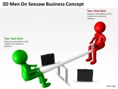 Work Flow Business Process Diagram Seesaw PowerPoint Presentaticoncept Slides