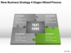 Work Flow Business Process Diagram Strategy 4 Stages Mixed Ppt PowerPoint Slide