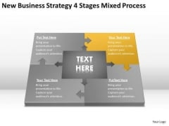 Work Flow Business Process Diagram Strategy 4 Stages Mixed Ppt PowerPoint Slides