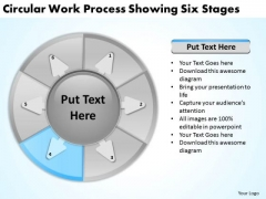 Work Process Showing Six Stages Executive Summary Example Business Plan PowerPoint Templates