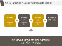 Xx Is Targeting A Large Addressable Market Ppt PowerPoint Presentation Background Images