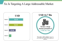 Xx Is Targeting A Large Addressable Market Ppt PowerPoint Presentation Icon Demonstration
