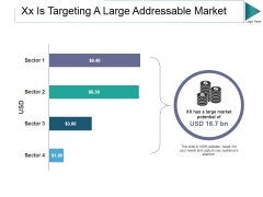Xx Is Targeting A Large Addressable Market Ppt PowerPoint Presentation Ideas Templates