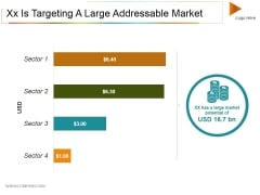 Xx Is Targeting A Large Addressable Market Ppt PowerPoint Presentation Layouts Infographic Template