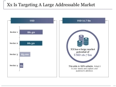 Xx Is Targeting A Large Addressable Market Ppt PowerPoint Presentation Portfolio File Formats