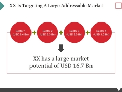 Xx Is Targeting A Large Addressable Market Ppt PowerPoint Presentation Show Graphic Images