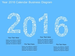 Year 2016 Calendar Business Diagram Powerpoint Template