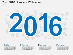 Year 2016 Numbers With Icons Powerpoint Template