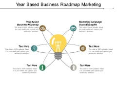 Year Based Business Roadmap Marketing Campaign Goals Examples Ppt PowerPoint Presentation File Ideas