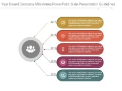 Year Based Company Milestones Powerpoint Slide Presentation Guidelines