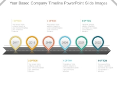 Year Based Company Timeline Powerpoint Slide Images