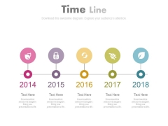 Year Based Sequential Steps Timeline Diagram Powerpoint Slides