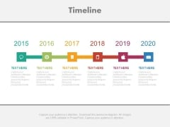 Year Based Timeline For Business Project Powerpoint Slides