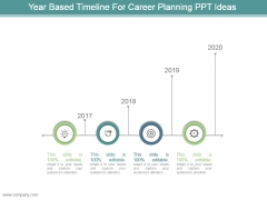 Year Based Timeline For Career Planning Ppt Ideas