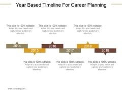 Year Based Timeline For Career Planning Ppt PowerPoint Presentation Portfolio
